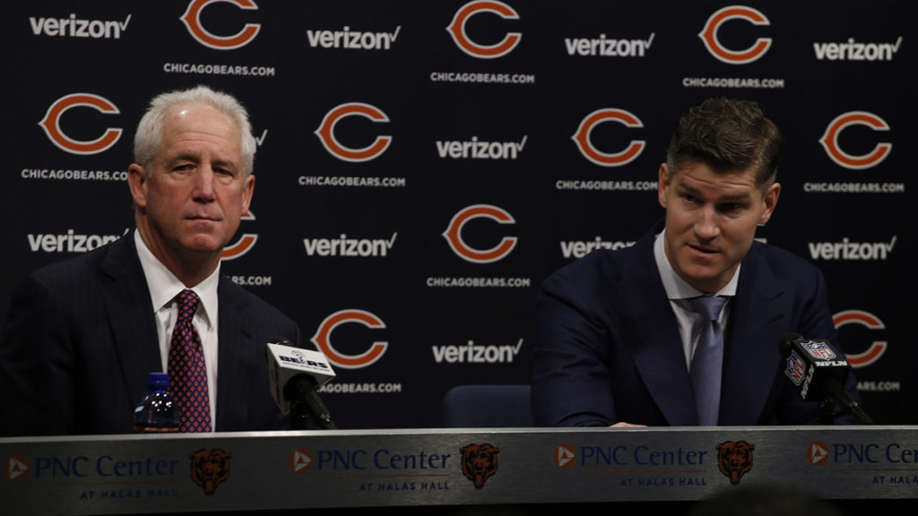 Bears general manager Ryan Pace and head coach John Fox hold a season-ending joint press conference to discuss the Bears' 3-13 2016 season.