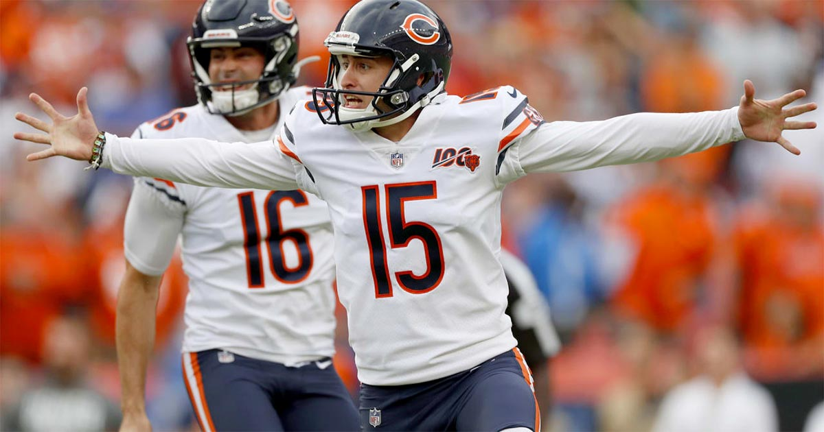 Eddy Pineiro exorcises the Bears' kicking demons